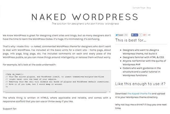 Naked WordPress