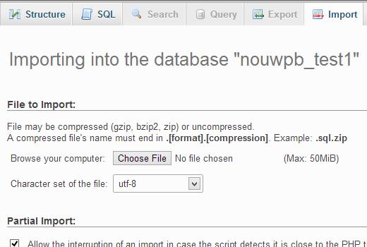 importingdb2 - انتقال و بارگذاری وردپرس از کامپیوتر به سرور وب سایت