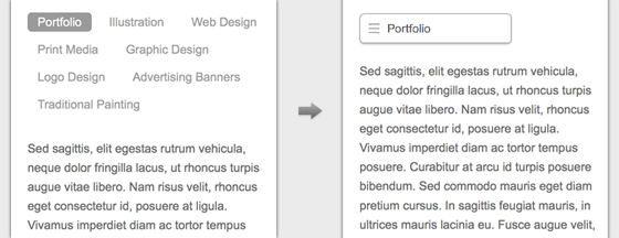purpose of responsive menu 2 - ساخت منو وب سایت سازگار با موبایل توسط css